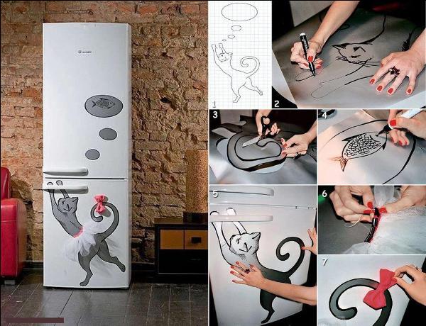 Как декорировать холодильник своими руками фото