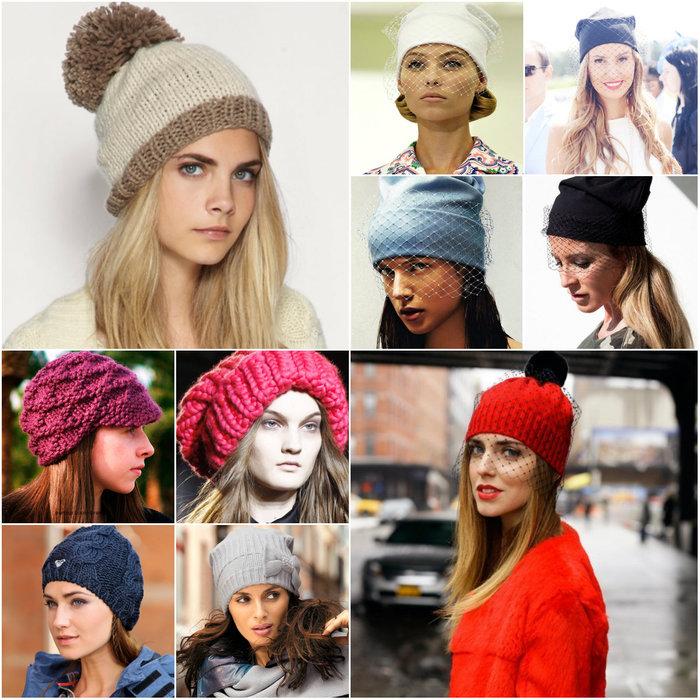 Мода осень зима шапки фото
