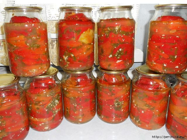 красный болгарский перец на зиму рецепты с фото