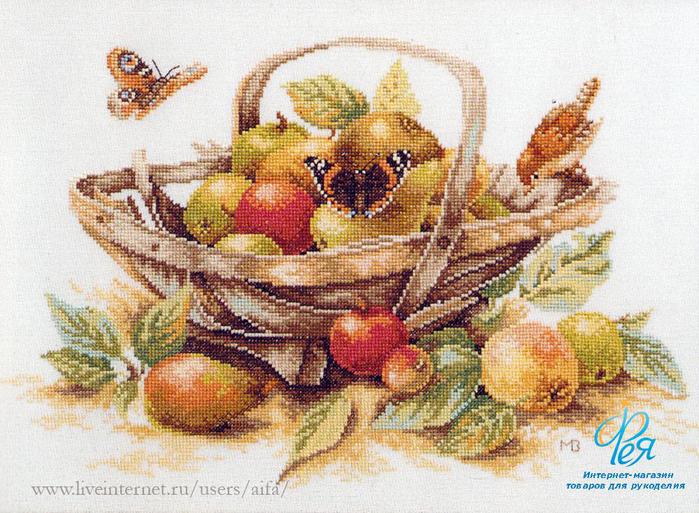 Вышивка крестом натюрморты с фруктами