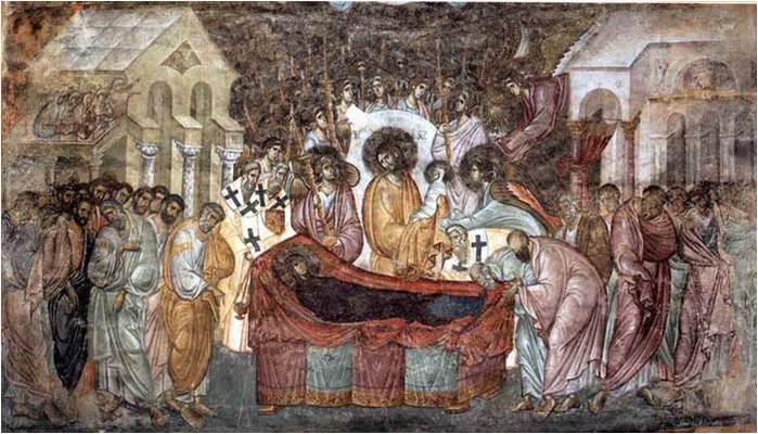 Успение фреска Сопочаны (700x400, 66Kb)