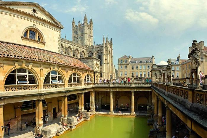 римские бани в английском городе бат 1 (700x466, 392Kb)