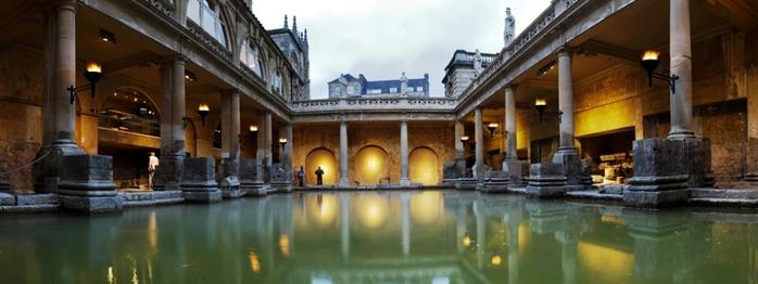 римские бани в английском городе бат 3 (700x262, 216Kb)