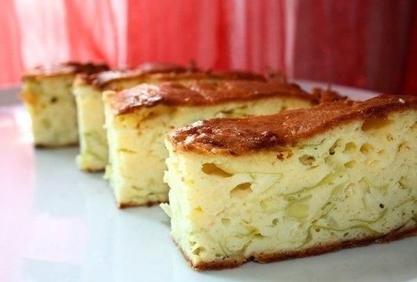 Пирог заливной на кефире с капустой и картошкой рецепт с