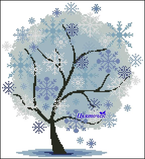 Зимнее дерево (576x628, 305Kb)