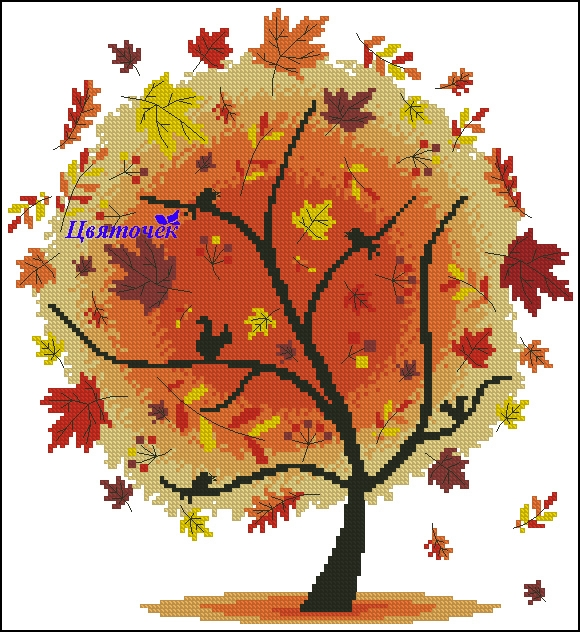 Осеннее дерево (580x632, 334Kb)
