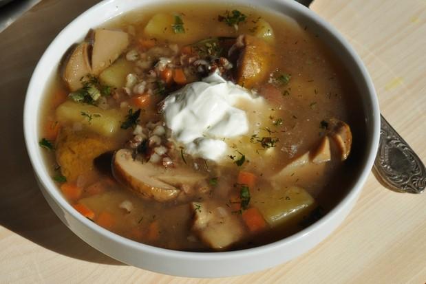 Суп из белых сушеных грибов с курицей рецепт
