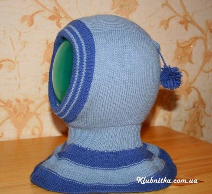 Шапка-шлем, шапка с ушками для