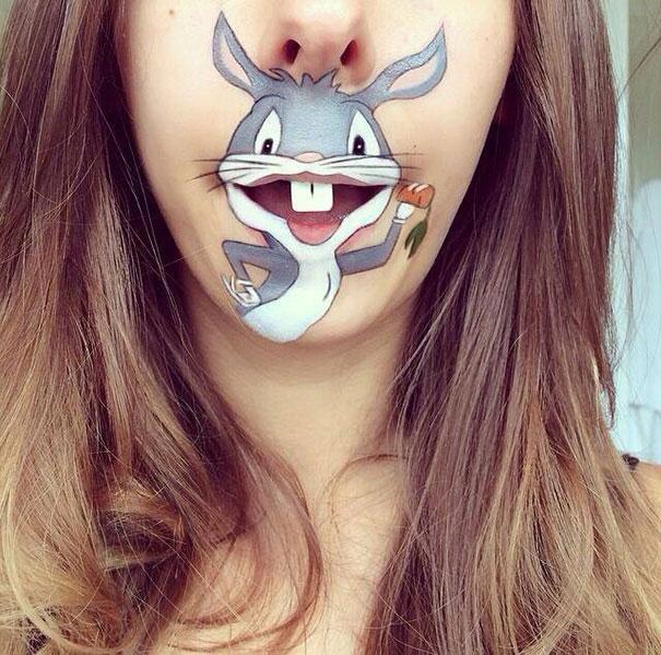 мультяшный макияж для губ от Лауры Дженкинсон 1 (605x599, 293Kb)