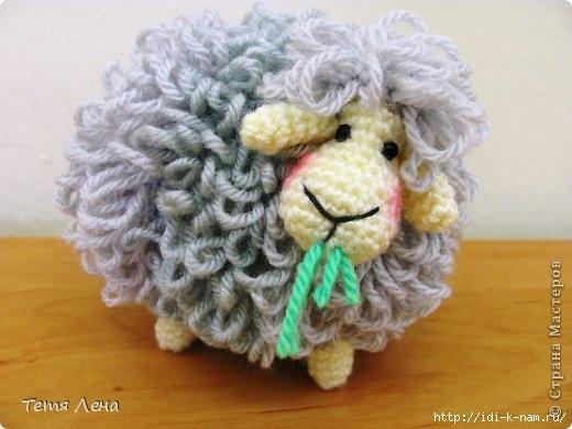 как связать овцу, вязаная овца, схема вязания овечки, символ 2015 года,