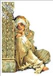 Превью Lanarte34668-Arabian_Woman Арабская женщина у колоны (350x500, 181Kb)