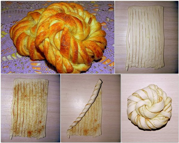 Как формировать из теста булочки с начинкой