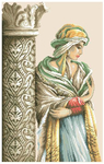 Превью Lanarte 34886 Moorish woman Женщина у колоны (330x520, 175Kb)