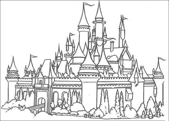 Раскраски дворцы для детей