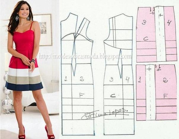 платье выкройка0 (604x470, 181Kb)