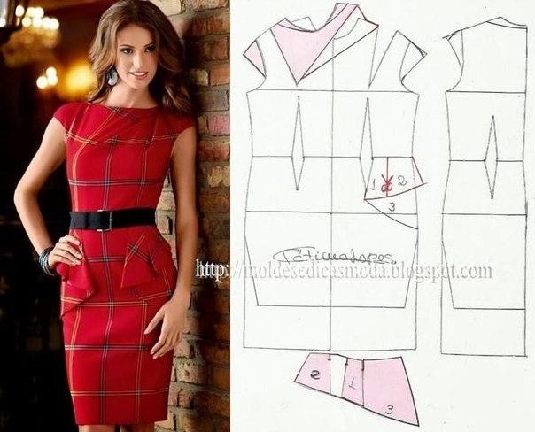 платье выкройка25 (604x488, 186Kb)