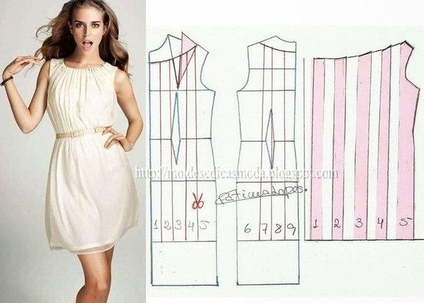 платье выкройка26 (604x431, 158Kb)