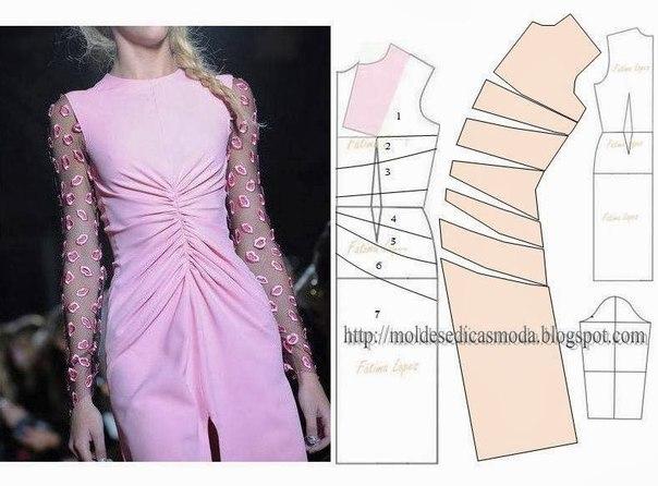 платье выкройка36 (604x446, 174Kb)