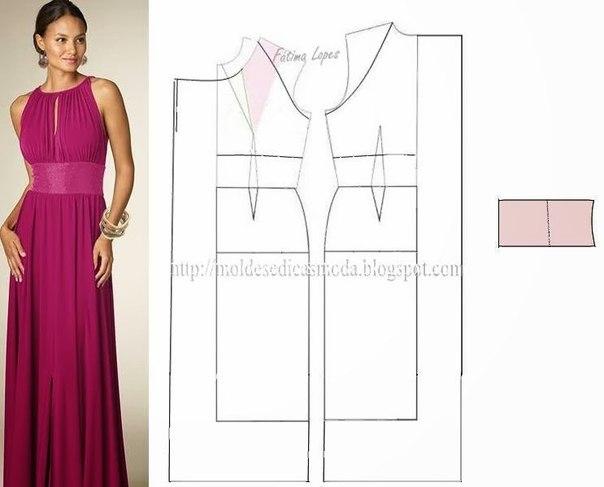 платье выкройка40 (604x487, 96Kb)