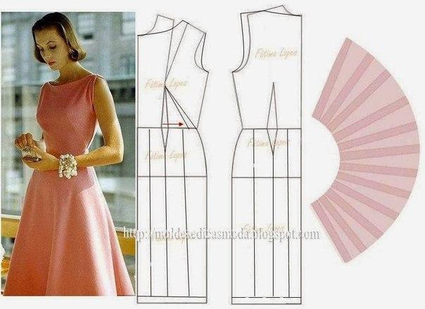платье выкройка42 (604x440, 157Kb)