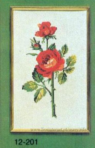 Вышивка крестом, схемы Роза