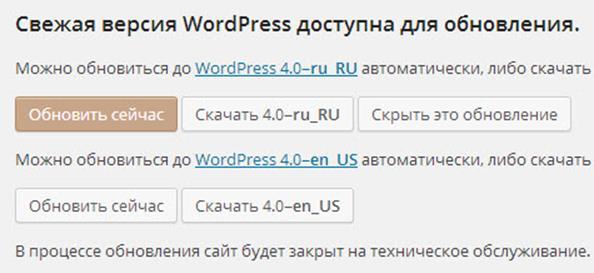 Вордпресс 4.0: Свежая версия WordPress доступна для обновления