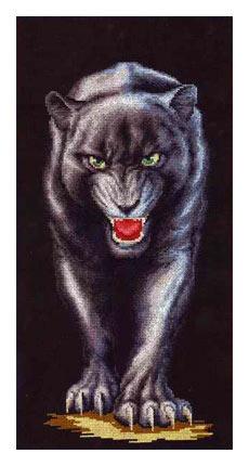 схема вышивки серебрянная пантера (230x430, 58Kb)
