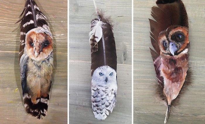 рисунки на птичьих перьях 10 (700x424, 150Kb)
