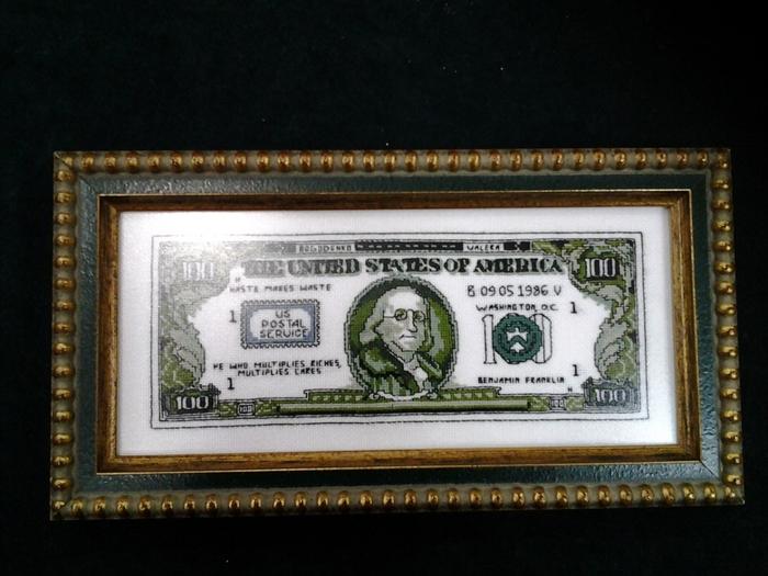 Вышивка доллара схема