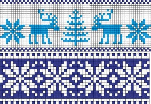 Вязание: схемы оленей.
