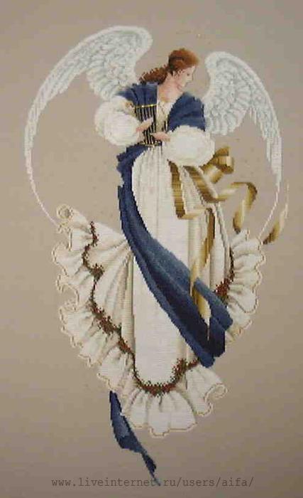 Вышивка крестом, схемы Ангел