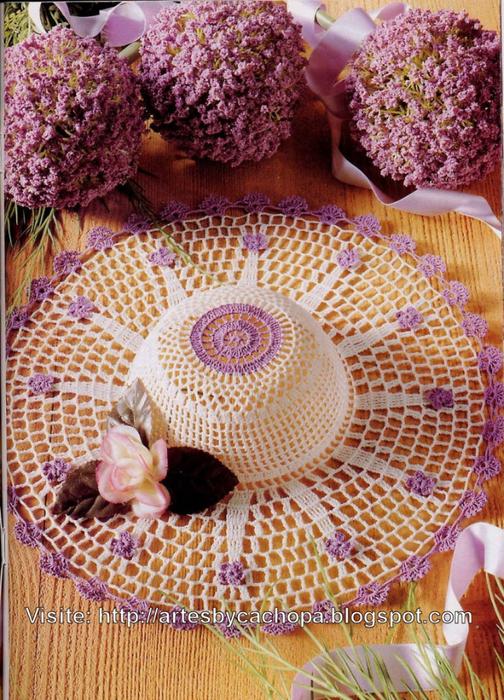Шляпки прелестные. Схемы вязания