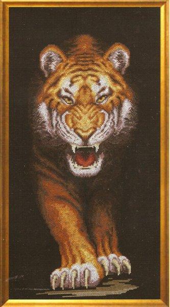 схема вышивки оскал тигра (333x600, 177Kb)