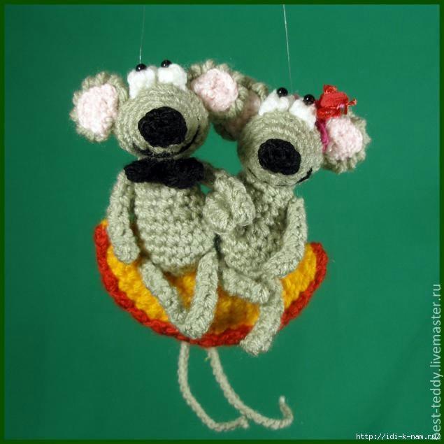 как связать мышку, схема вязания мышки, фото мастер класс по вязанию мышки, вязаная мышка, Хьюго Пьюго рукоделие,