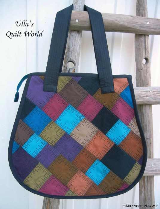 Накидка для кресла, коврик и сумочка из разноцветных лоскутков (1) (535x700, 277Kb)