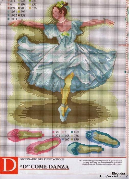 Вышиваем крестиком. БАЛЕРИНЫ (9) (505x700, 317Kb)