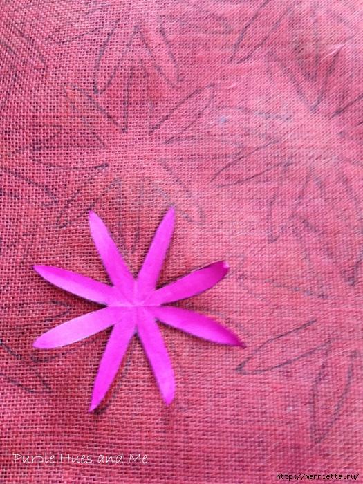 Цветы из мешковины - Эхинацея Пурпурная. Мастер-класс (14) (525x700, 401Kb)