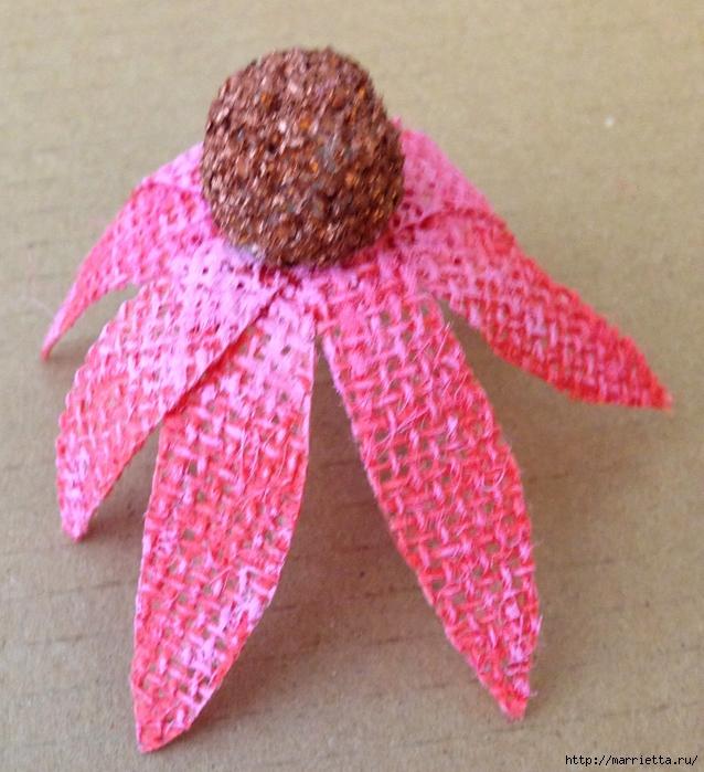 Цветы из мешковины - Эхинацея Пурпурная. Мастер-класс (20) (638x700, 344Kb)