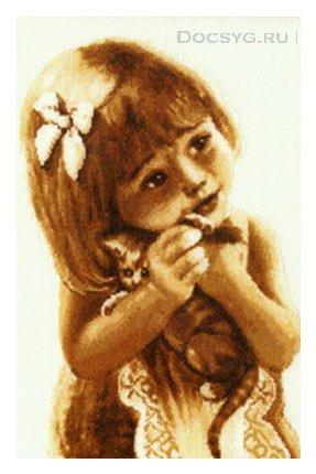 вышивка крестом девочка