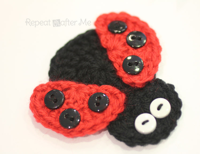 CrochetLadybugApplique