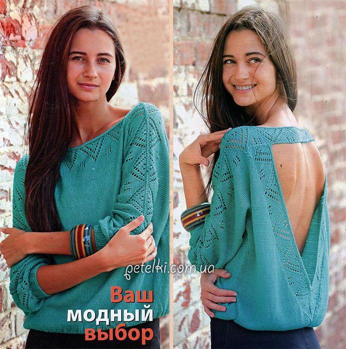 3873965_1410103907_puloverspicamisotkrytoyspinoy_opisanievyazaniyashemy (694x700, 127Kb)