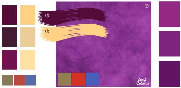 Цвета которые сочетаются с фиолетовым