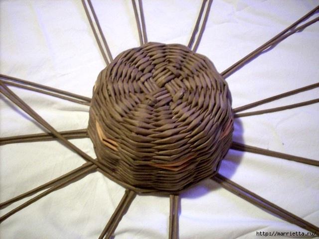ШЛЯПКИ. Плетение из газетных трубочек (4) (640x480, 165Kb)