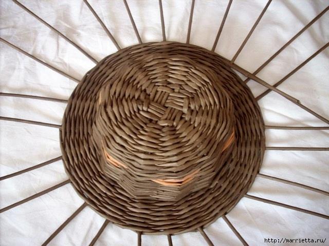 ШЛЯПКИ. Плетение из газетных трубочек (9) (640x480, 193Kb)