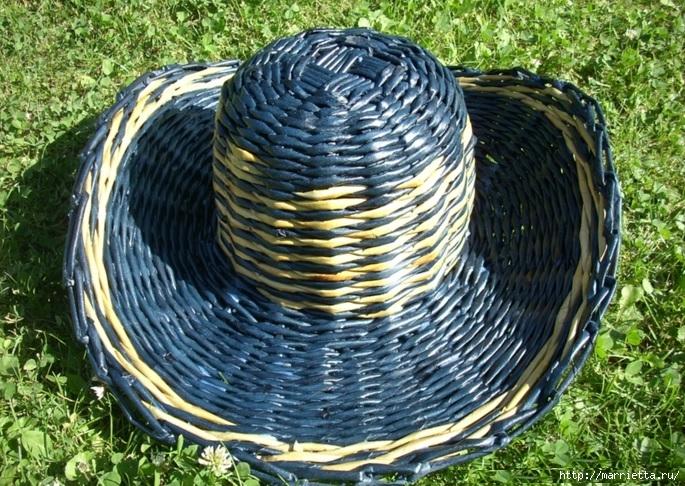ШЛЯПКИ. Плетение из газетных трубочек (32) (685x486, 351Kb)