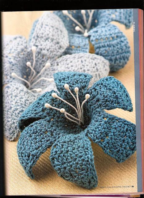 Цветы. Схемы вязания крючком