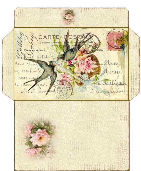 Красивые картинки на конверты для писем