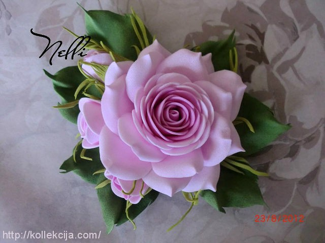 Розы из фомы своими руками