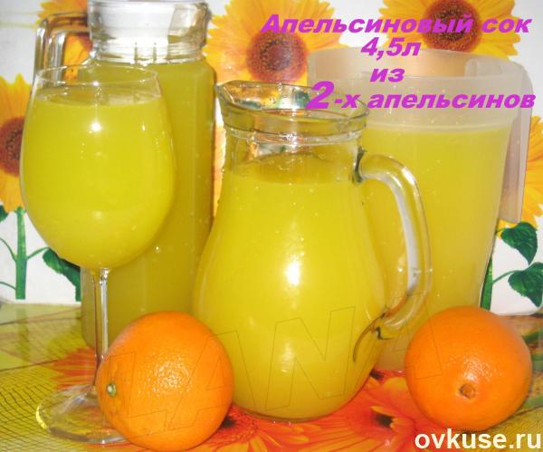 Сок своими руками из апельсина