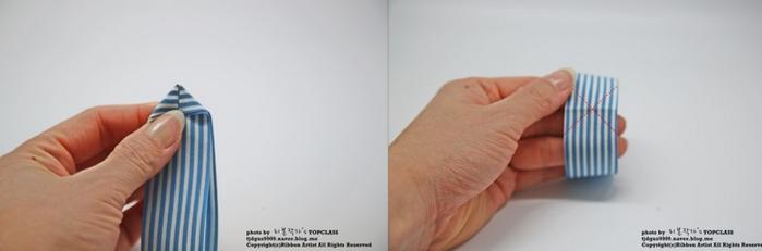 Аксессуары к школе - бантик-бабочка из ленточек (8) (700x231, 150Kb)